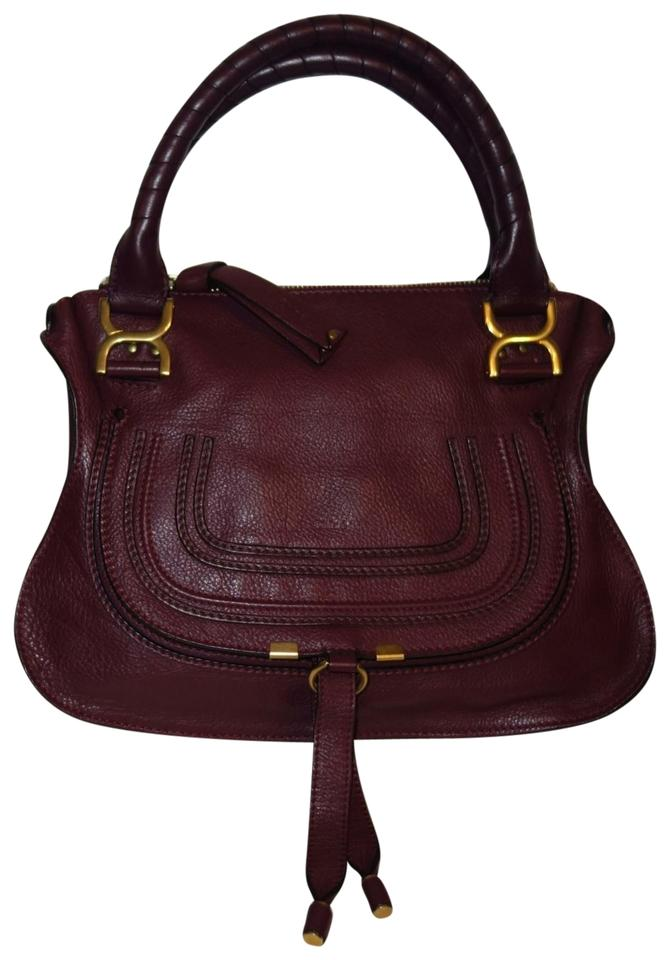 5a8d82b282f9 Chloé Marcie Plum Leather Satchel - Tradesy