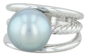 David Yurman David Yurman Tahitian Pearl Ring - 18k Size 5.75 Cocktail Statement