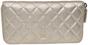 Chanel Quilted Lambskin Leather CC Long Zippy Wallet