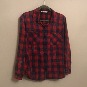 Vanilla Star Button Down Shirt red and blue