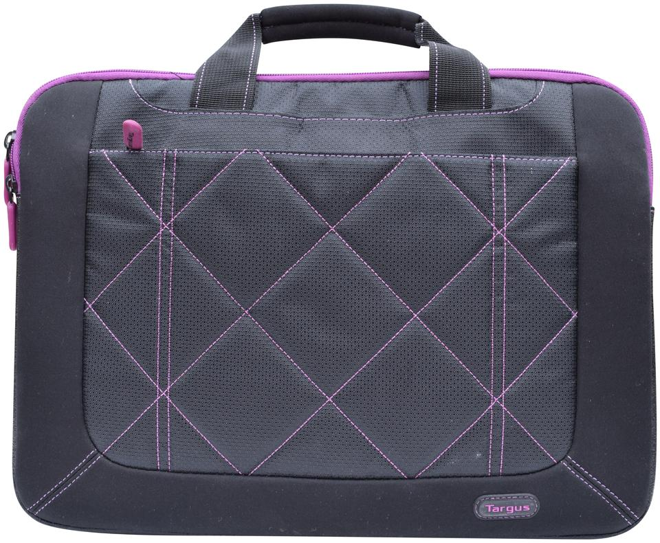 Targus Black Purple Polyester Laptop Bag