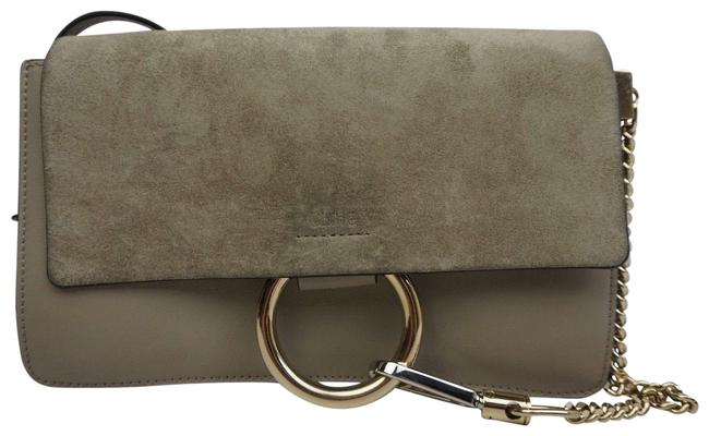 Item - Faye Small Motty Purse Grey Leather and Suede Cross Body Bag