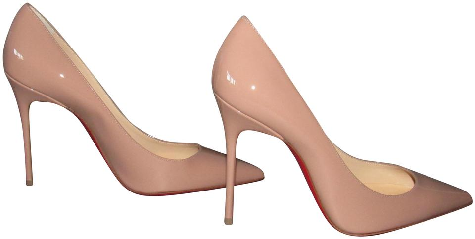 02fd91972116 Christian Louboutin Beige Nude Decollete 554 100 Mm Patent Leather ...