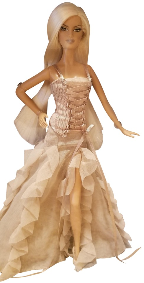 Versace Barbie Gold Label Collectible Doll 2004 Nrfb Taupe Dress