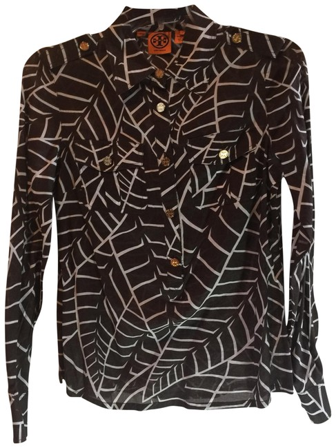 Item - Brown C Blouse Size 6 (S)