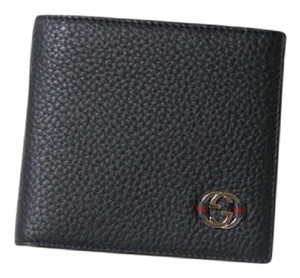Gucci New Authentic Men's Gucci Ace Black Leather Bifold Wallet clutch
