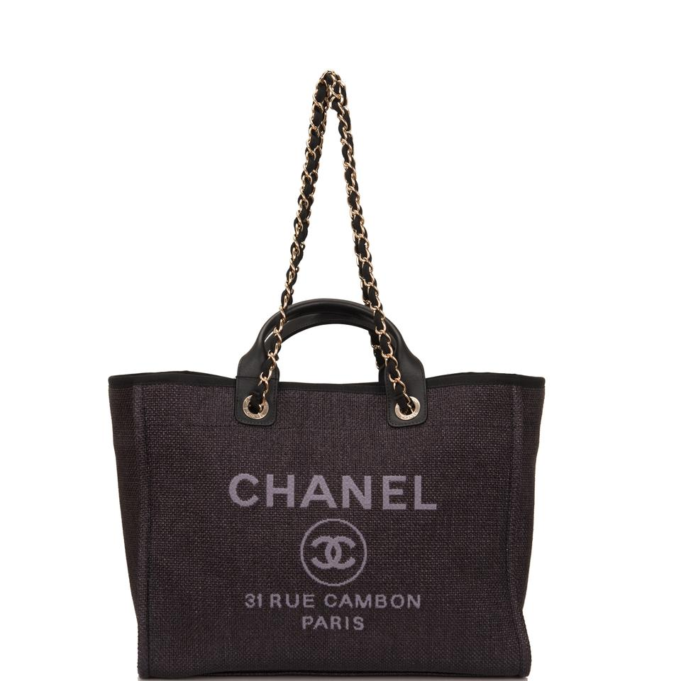 d62d74caa13 Chanel deauville large shopping black canvas tote tradesy jpg 960x960 Chanel  large deauville canvas tote