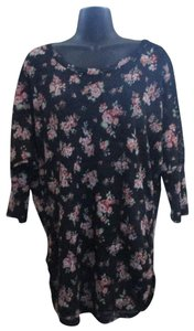 No Boundaries Floral Stretchy Xxl Winter Formal Top Multicolored