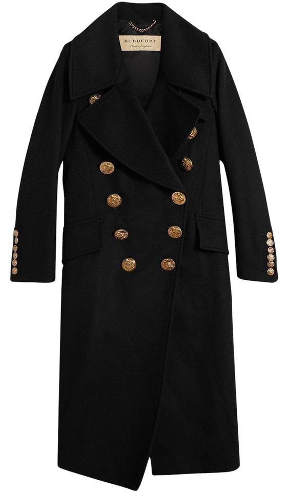 962431e2a749 Burberry London Women Gold Hardware Birds Double Breasted Chain Trench Coat  ...