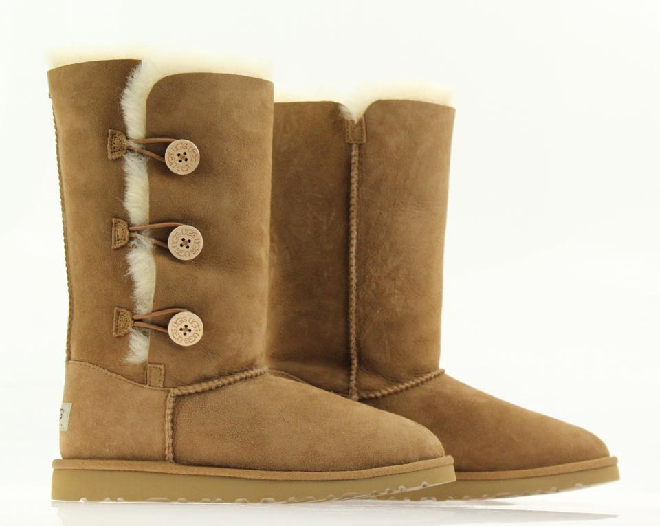 6ed107730c0 UGG Australia Chestnut Bailey Button Triplet Ii Boots Booties Size ...