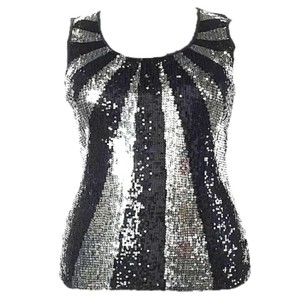 Macy's Top Black and Silver