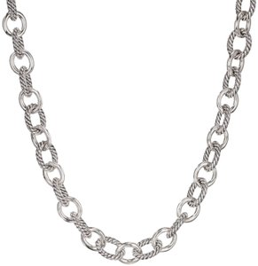 David Yurman Large Oval Link Chain Necklace Sterling Silver 925 Cable
