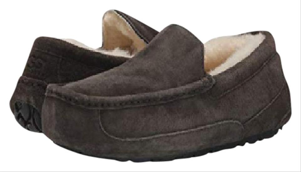 9affd24fe46 UGG Australia Charcoal Men's Ascot Moccasin Slippers 1101110 Boots/Booties  Size US 9 Regular (M, B)