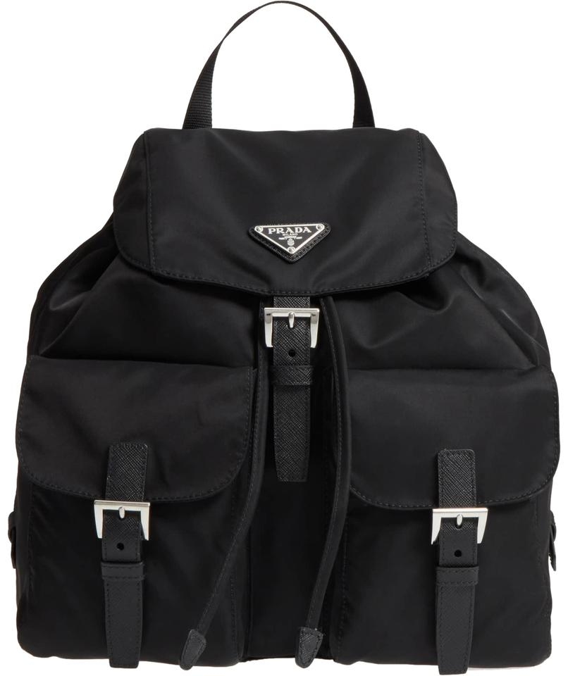 f17c1c761b8e norway prada leather backpack with nylon trim in black for men lyst b30bc  7d128; canada prada backpack prada backpack 6b37e c8ae2