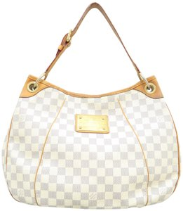 5ef01ac886fec Louis Vuitton Galliera Damier Azur Pm Shoulder White Canvas Hobo Bag ...