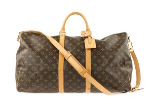 6dee45aa23ad Added to Shopping Bag. Louis Vuitton Brown Travel Bag. Louis Vuitton  Keepall Bandoulière 55 Monogram Brown Coated Canvas Weekend Travel Bag