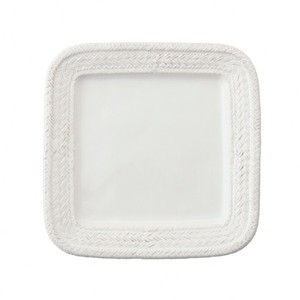 White Le Panier Square Dinner Plate Set/4 Casual China