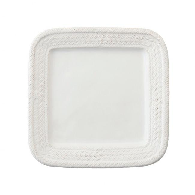 Item - White Le Panier Square Dinner Plate Set/4 Casual China