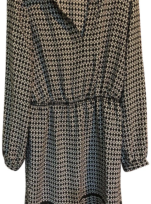 Item - Black and White Mid-length Work/Office Dress Size 12 (L)