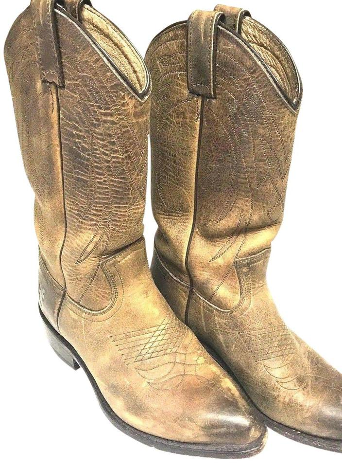 281a571801a Frye Tan Women's Billy Pull On Cowgirl Western Boots/Booties Size US 6.5  Regular (M, B)