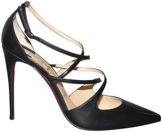 Preload https://img-static.tradesy.com/item/24546448/christian-louboutin-black-crossfliketa-100-leather-criss-cross-pumps-size-eu-395-approx-us-95-regula-0-2-540-540.jpg