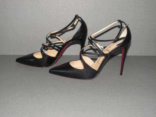 Christian Louboutin Kid Leather Red Sole With Box Black Pumps
