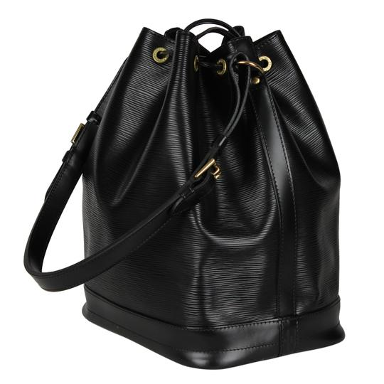 Louis Vuitton Noe Leather Shoulder Bags Epi Leather Canvas Tote in Black