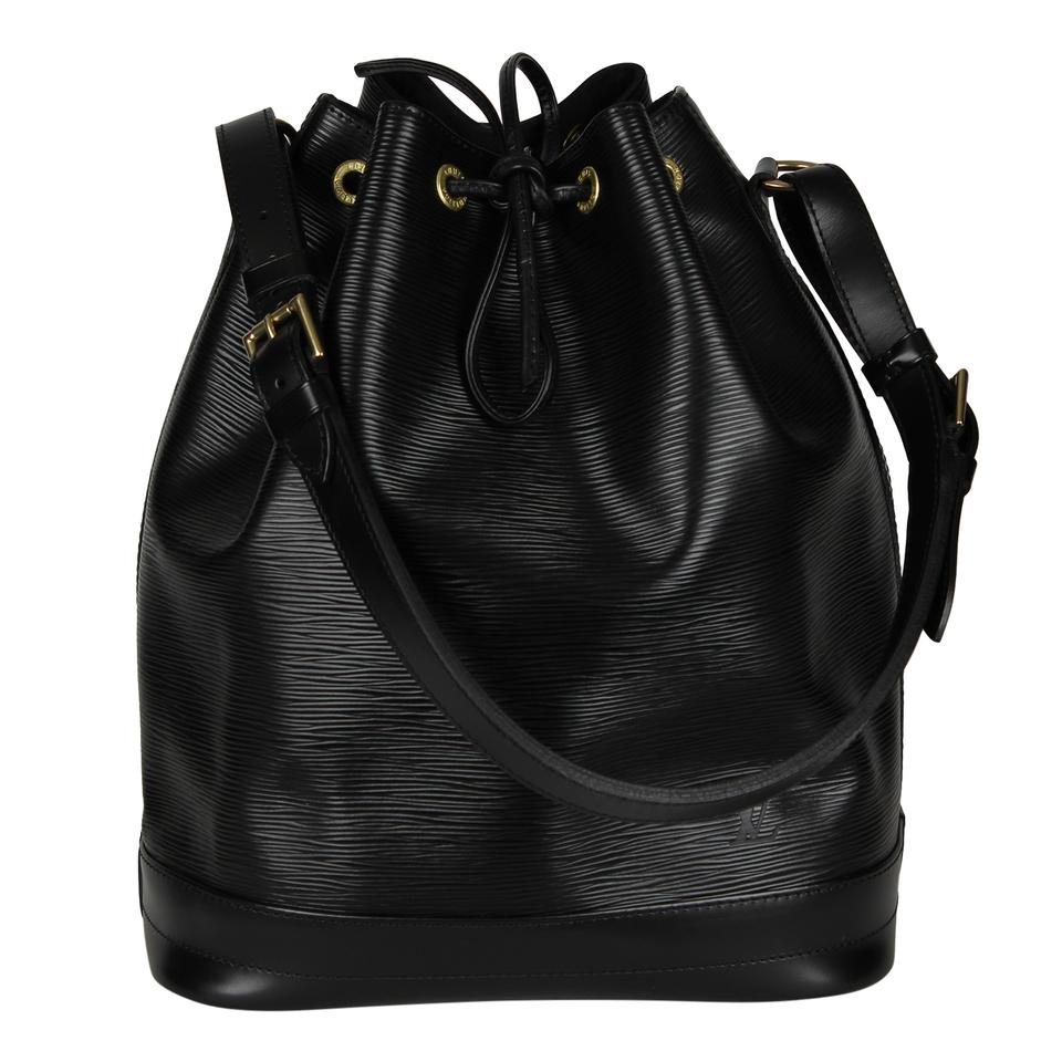 ff6a451a489b Louis Vuitton Great Condition Epi Noe Gm 6927 Black Leather Tote ...