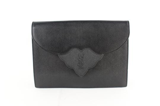 Preload https://img-static.tradesy.com/item/24546629/saint-laurent-monogram-envelope-ysl-14mz1812-black-leather-clutch-0-0-540-540.jpg