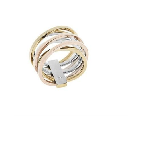 Michael Kors NWT MICHAEL KORS TRI TONE INTERTWINED RING SIZE 8 $125 W BAG MKJ4421