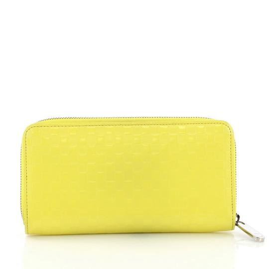 Louis Vuitton Wallet Leather Wristlet in yellow