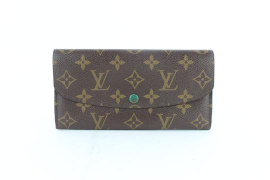 Preload https://img-static.tradesy.com/item/24546640/louis-vuitton-green-monogram-emilie-flap-long-wallet-19lz1812-brown-coated-canvas-clutch-0-0-540-540.jpg