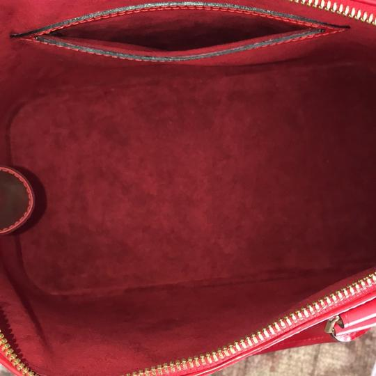 Louis Vuitton Vintage Leather Alma Satchel in Red
