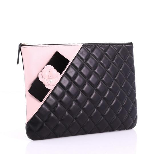 Chanel Leather black and pink Clutch