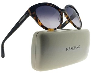 Guess By Marciano GM0710-D46-55 Oval Women's Havana Frame Grey Lens Sunglasses NWT