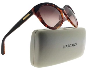 Guess By Marciano GM0710-BRN-52-55 Oval Women's Brown Frame Brown Lens Sunglasses NWT
