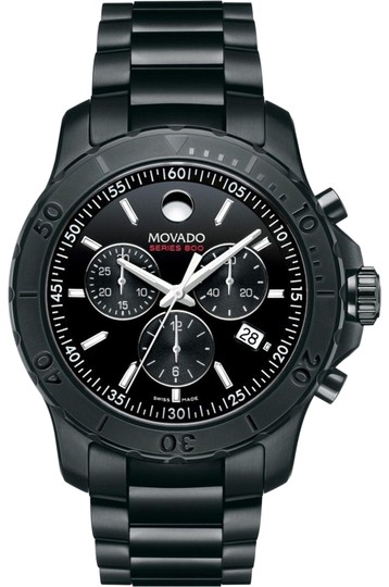 Preload https://img-static.tradesy.com/item/24546703/movado-black-stainless-steel-bracelet-800-series-chronograph-2600119-swiss-watch-0-1-540-540.jpg