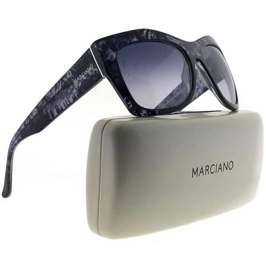 Guess By Marciano GM0715-C38-55 Cat Eye Women's Black Frame Grey Lens Sunglasses NWT