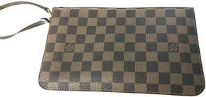 Louis Vuitton Leather Monogram Neverfull Clutch