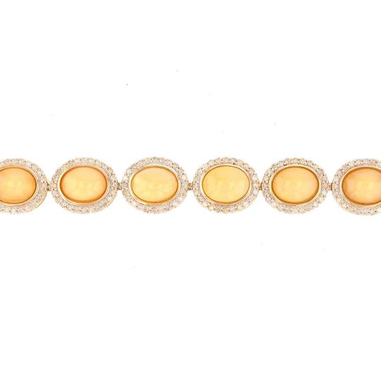 Yellow Gold 15.26ctw Opal and 2.79ctw Diamond 14kt Bracelet