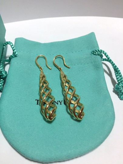 Tiffany & Co. Paloma Picasso Solid 18k Gold LUCE Dangle Drop Earrings - 2