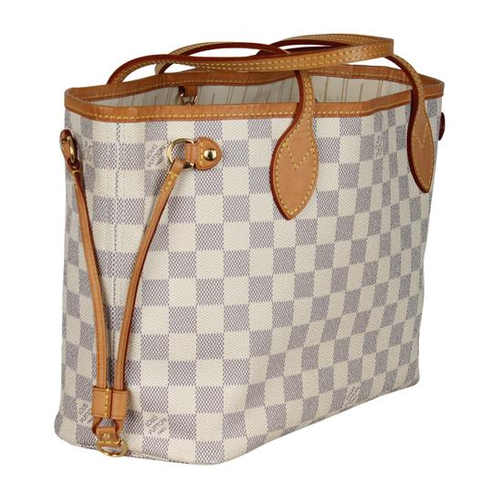 Louis Vuitton Neverfull Pm Damier Canvas Neverfull Classic Tote in White