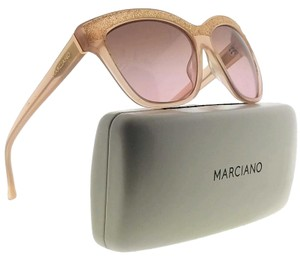 ec1e0ef01a Guess By Marciano GM0729-74F-57 Square Women s Pink Frame Brown Lens  Sunglasses NWT