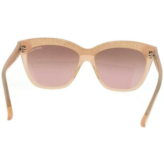 Guess By Marciano GM0729-74F-57 Square Women's Pink Frame Brown Lens Sunglasses NWT