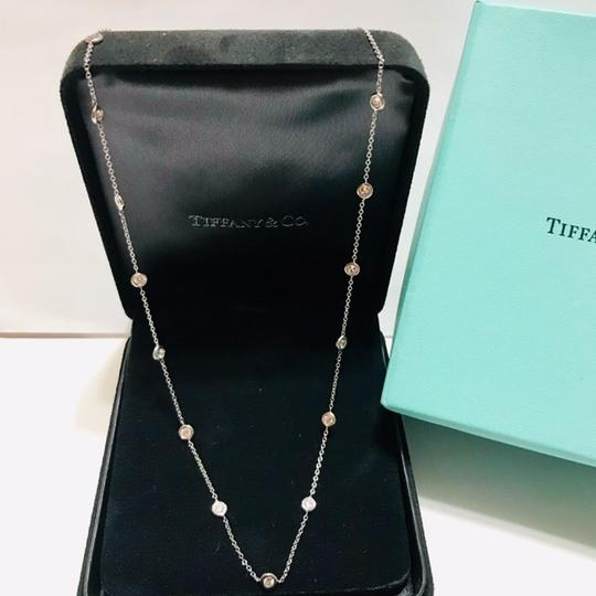 Tiffany & Co. SOLID 18K WHITE GOLD - DIAMOND BY THE YARD NECKLACE - 1.54 CT