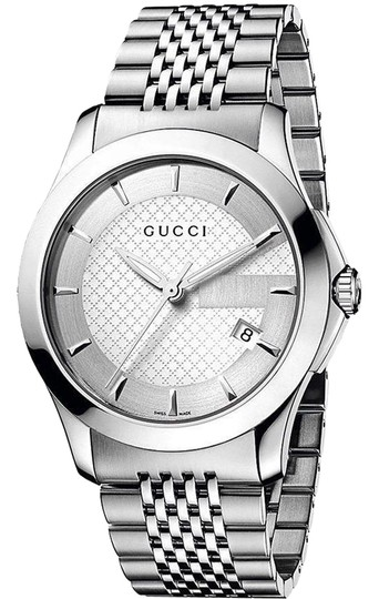 Preload https://img-static.tradesy.com/item/24546751/gucci-stainless-steel-silver-bracelet-silver-dial-g-timeless-ya126401-mens-swiss-watch-0-1-540-540.jpg