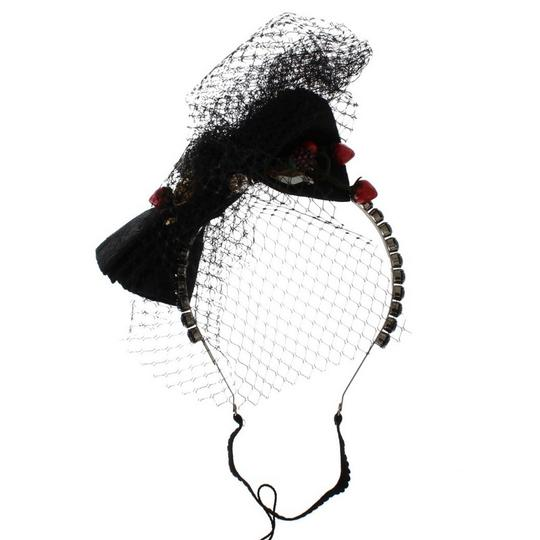 Dolce&Gabbana D31645 Women's Black Crystal Bow Fruit Embellished Headband (One size)