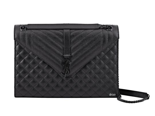 Preload https://img-static.tradesy.com/item/24546769/saint-laurent-monogram-envelope-large-mixed-textured-blackblack-leather-shoulder-bag-0-1-540-540.jpg
