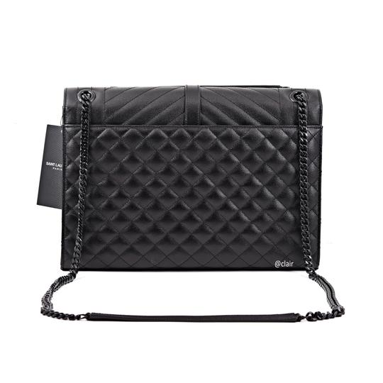 Saint Laurent Monogram Leather Shoulder Bag