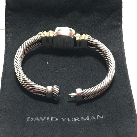 David Yurman STERLING SILVER AND 14K GOLD RENAISSANCE WATCH WITH AMETHYST